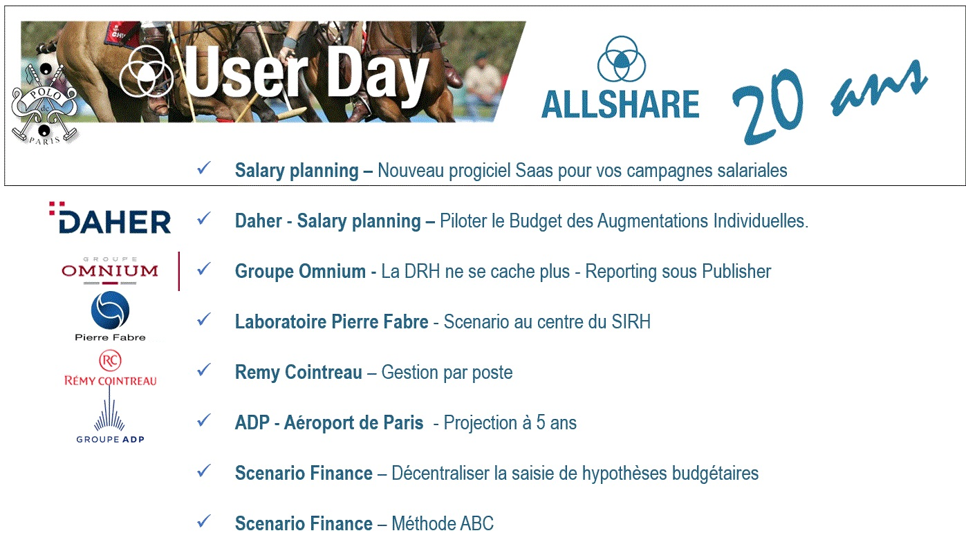 Userday 20 ans - Programme